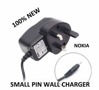 GENUINE UK MAINS WALL CHARGER FOR NOKIA C1-01 C2-01 C3-01 MOBILE PHONE(SMALL PIN