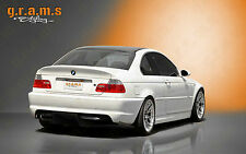 BMW 3 Series E46 Rear Diffuser / Undertray for Racing, Performance, Aero V6