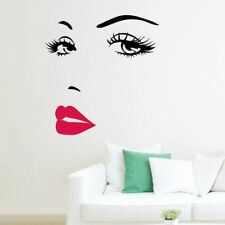 Wall decal stickers living room sexy eye LIP FACE mural girl poster new DC21