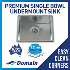Domain Premium Handmade 304 Stainless Steel Undermount Kitchen Laundry Sink 510
