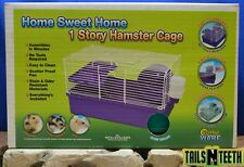 Critter Ware Home Sweet Home 1 Story Hamster Cage - Complete Starter Kit