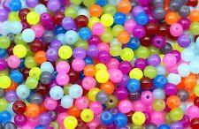 500 Stück Glasperlen 4mm Glas Perlen Beads Jadeeffekt Bunt Jade Effekt - 1119