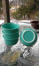set 4 GUSTO BOWLS turquoise blue HOMER LAUGHLIN FIESTA WARE 23 OZ. NEW