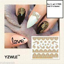 Decorazioni in oro metallico per unghie