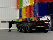 1/64 DCP BLACK 40' TRI AXLE CONTAINER TRAILER