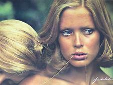 Postcard gunter sachs postcard blonde woman woman chain