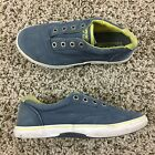 Sperry Top Sider Women Sz 4 Blue Yellow Boat Shoes Halyard Flats
