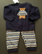 Gymboree 6-12 Set Bear Sweater Fair Isle Pine Tree Sweater Pants NWT