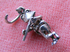 VINTAGE STERLING SILVER CHARM FROG PLAYING A FLUTE