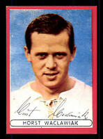 Horst Waclawiak Autogrammkarte Hertha BSC Berlin Spieler 60er Jahre Original Sig