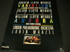 Andrew Lloyd Webber with 23 Variations colorful 1987 Promo Poster Ad mint cond