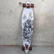 "Arbor Skateboards 39"" Bamboo Longboard Complete Black White Bird Artist DZO"