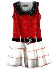 Tenues et ensembles rouge sans manches pour fille de 2 à 16 ans