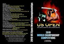 2019 U. S. Open World Martial Arts Championships Tournament 2 Dvds set