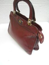 Etienne Aigner,, Vintage Classic Signature  Dark Burgundy Leather Handbag