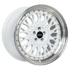17x9.5 ARC AR1 5x100 +20 White Rims Fits Tc Fr-S Jetta Golf Gti Brz Stance