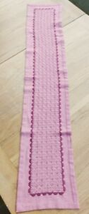 An Attractive Pink Table Runner - 120cm x 22cm