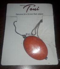 Toni Red Jasper Pendant Necklace - 24×33 CM New