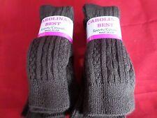 6 Pair Medium Carolina Best Sports Casual Orlon Brown Trouser Crew Sock 9-11 USA