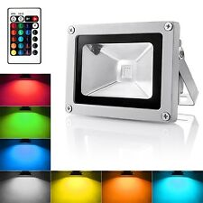 Warmoon Outdoor LED Flood Light 10W RGB Color Changing Waterproof Security Li...