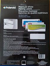 Polaroid Premium Inkjet White Mailing Labels 240 labels per package
