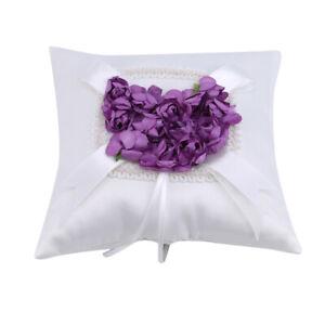 Wedding Ring Bearer Pillow Love Heart Design Ceremony Supplies Decoration LL