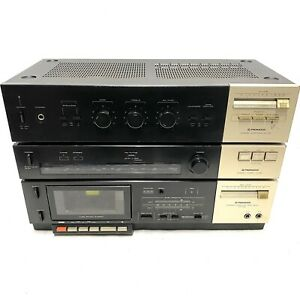 1982 Vintage PIONEER SA-130 Amp, TX-130L Tuner & CT-330 Cassette Deck *VGC* Read