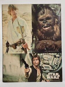 STAR WARS 1977 MEAD Vintage Portfolio School Folder Han Solo, Luke, Chewbacca