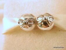 NEW! AUTHENTIC PANDORA CHARM DAINTY BOW CLIP (SET OF 2) #791777CZ HINGED BOX