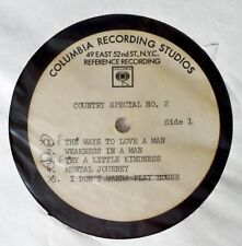 "COLUMBIA RECORDS - COUNTRY SPECIAL NO. 2 - 12"" ACETATE - T.WYNETTE, D. HOUSTON"