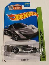 Hot Wheels 2015 McLAREN P1 Silver HW WORKSHOP 223/250