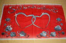 Silberhochzeit Hochzeits Fahne Hochzeit Flagge 90 x 150 cm