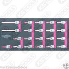 """KS Tools BBA CROMO 3/8 """" Set bit Socket, 21-tlg 1/3 systemeinlage 7183.0021"""