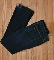 Mossimo Women's Jeans Curvy Bootcut Dark Wash Stretch Mid Rise Size 4 Short