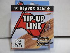 New listing Beaver Dam Tip-Up Line ice fishing line 40 lb test 50 yards black Nip