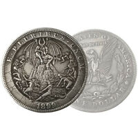 Silver Morgan Dollar Hobo Satanic Devil Satan Lucifer Carved Fantasy Occult Coin