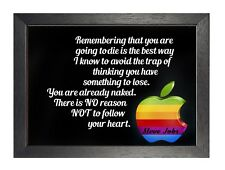 Steve Jobs Quote 1 Follow Your Heart Poster Motivational Inspirational Photo