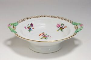 KPM Berlin Hand-Painted Porcelain Pedestal Bowl - Germany 19th Century -Signed