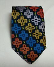 Vintage Regal Neck Tie Polyester and Rayon Colorful Geometric Retro