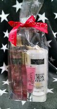 Victorias Secret Set Coconut Lotion Blush Mist Bombshell Roller Perfume Lipgloss