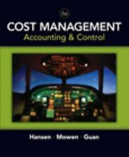 Don Hansen, et al. COST MANAGEMENT - ACCOUNTING & CONTROL 2007 6th ed Brand New!