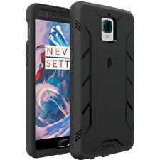 For OnePlus 3/3T Case Black POETIC【Revolution】Hybrid Case w Built-In Screen