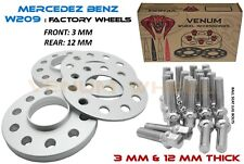 Mercedes Benz 5x112 (4pc) 3mm & 12mm 66.6 I.D Wheel Spacer Kit Fits W209 CLK320