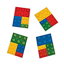 12 Lego Colour Brick Block Notepads| Party Favours| Party Bag Fillers | Rewards