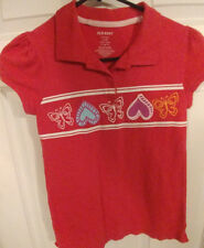 Girl's, Old Navy, Polo, Shirt, Short Sleeves, Pink, Size L, 10/12
