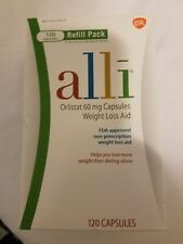 alli Orlistat 60mg Weight Loss Aid Refill Pack 120  Capsules exp 01/2021