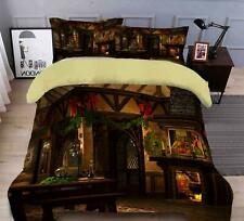 3D Room Fireplace N462 Christmas Quilt Duvet Cover Xmas Bed Pillowcases Fay