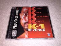 K-1 Revenge (Sony PlayStation 1, 1999) PS1 Black Label Complete Excellent!