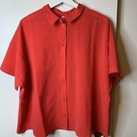Lululemon Size 8 Full Day Ahead Short Sleeve Shirt Carnation Red MSRP $78 NWT