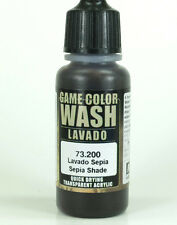 Vallejo Game Color Wash SEPIA SHADE 73.200 17ml Acrylic Paint 73-200 73200
